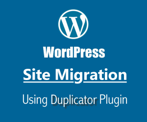 Moving my wordpress site using plugin