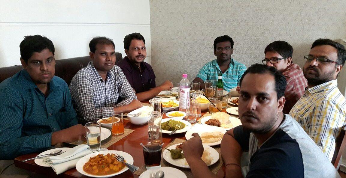Team Lunch at Oh Culcutta